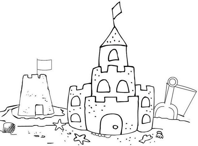 Seven Beautiful Sand Castle Coloring Pages For Kids Coloring Pages Castle Coloring Page Beach Coloring Pages Cool Coloring Pages