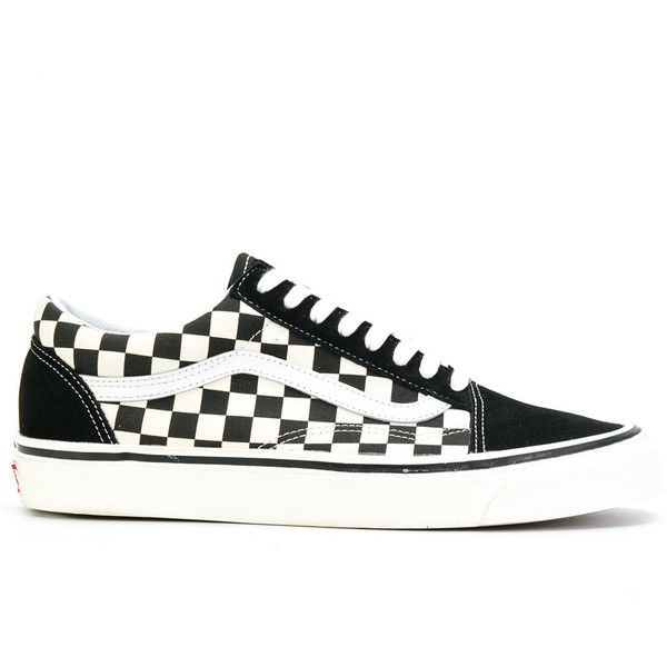 Vans Primary Check Old Skool sneakers (€105) ❤ liked on Polyvore featuring  shoes