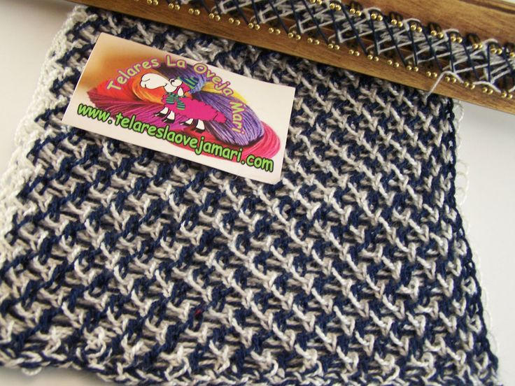 CRIS CROS STITCH WITH TWO COLORS FOR RECTANGULAR LOOM