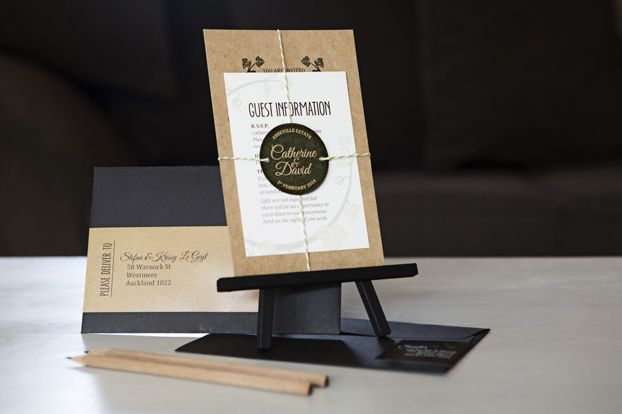 Bespoke Wedding Invitations. Designed by www.somethingandco.co.nz