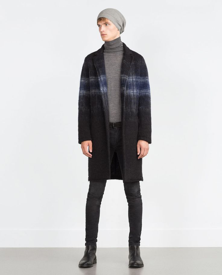 ZARA - MAN - CHECK COAT Size-M