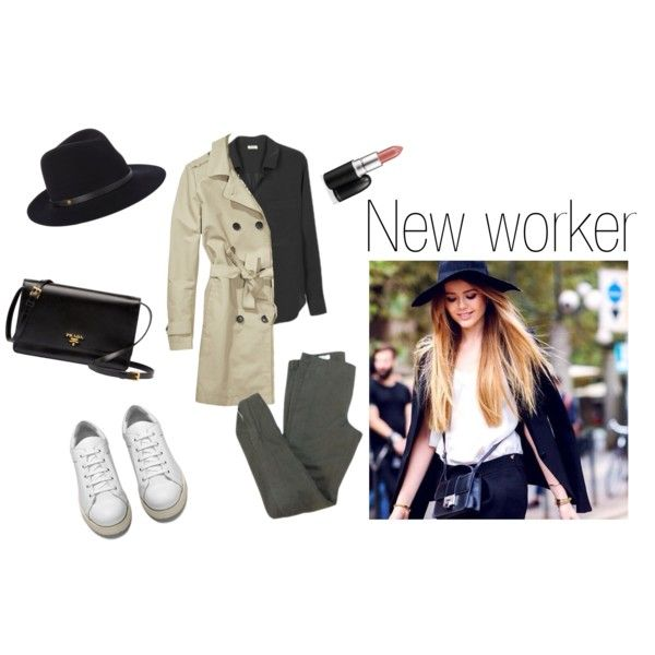 """new worker w/ white sneakers"" by hypeway on Polyvore"