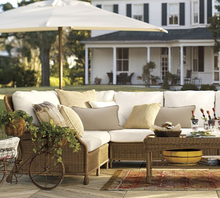 17 best images about outdoor living by pottery barn australia on pinterest outdoor cushions - Outdoor sectionals for small spaces collection ...