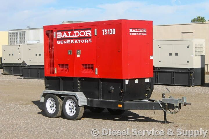 For Sale! Baldor 100 kW Standby Portable Diesel Generator, Year 2006, 246 Hours, Voltage Selector Switch (120/240 Volt-277/480 Volt), Trailer-Mounted Sound Attenuated Enclosure, Auto Start/Stop, 12 Volt Alternator, Dry Pack Air Cleaner, 450 Amp Circuit Breaker, Muffler, Digital Generator Panel, Digital Engine Panel, Engine Mount Radiator, 160 Gallon Double Wall Base Fuel Tank. Unit#: 87429 #baldor #dieselgenerator http://www.dieselserviceandsupply.com/Used-Generators/Baldor-100-87429.aspx