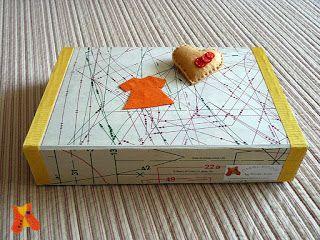 Custom sewing box with pin cushion