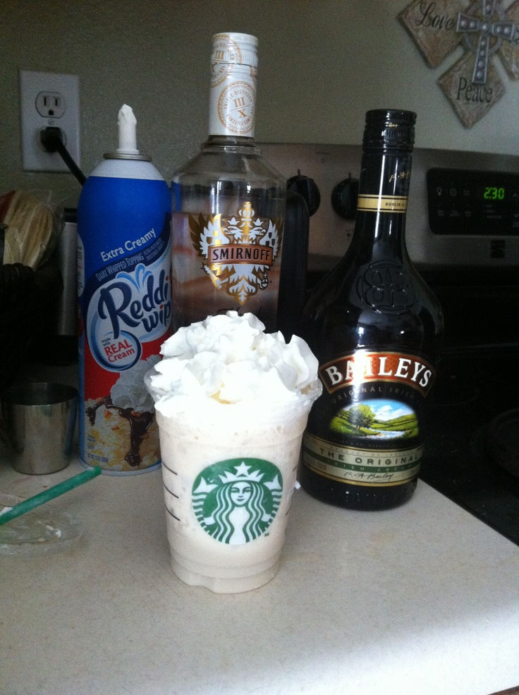 2oz Carmel Kissed Vodka 1oz Baileys Irish cream Shake pour over ice and add whipped cream. It's a coffee kick so good
