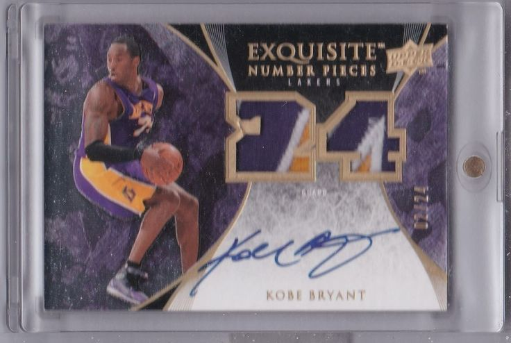 Kobe Bryant 2007-08 Exquisite Collection Number Pieces Auto Patch #02/24