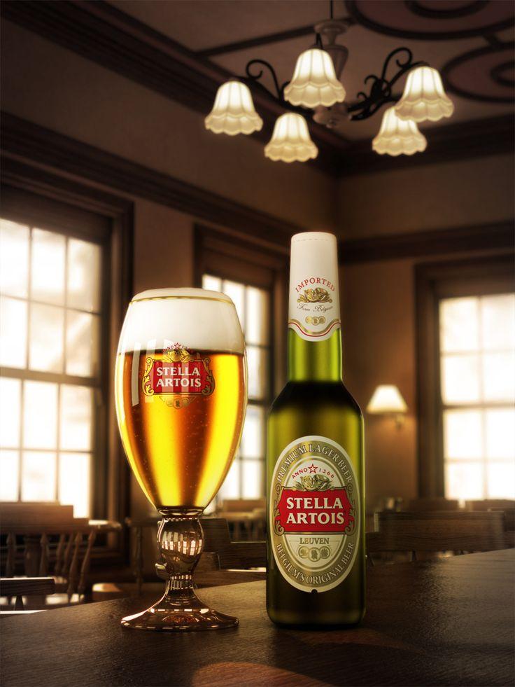 Stella Artois beer.
