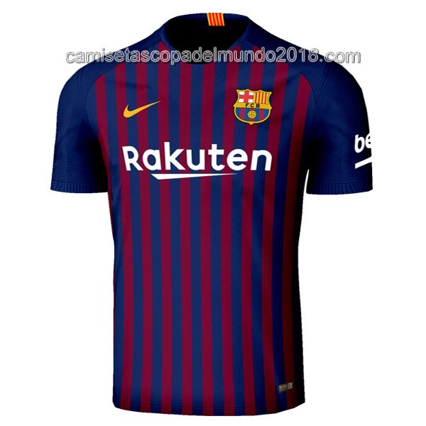Nike Primera Camiseta Equipación Barcelona Azul Rojo 2018 2019 ... e0687b67d4cf1