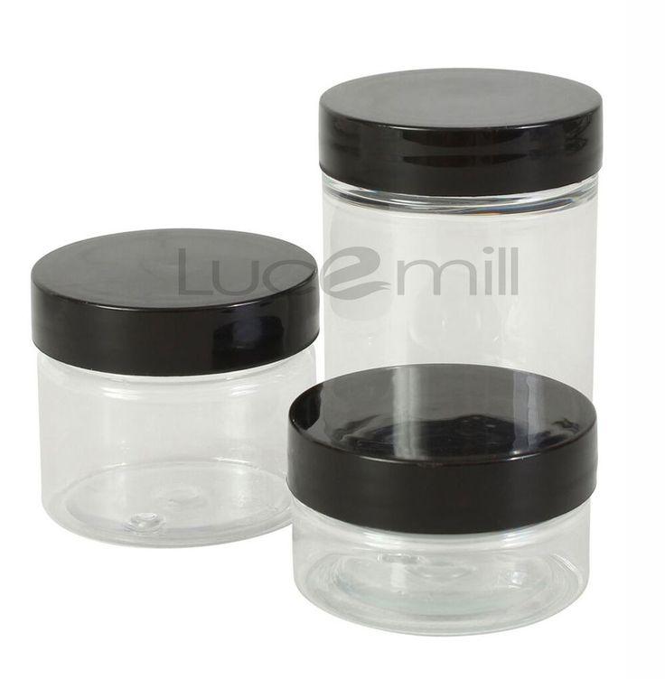 Empty COSMETIC PET PLASTIC POT JAR TUBS