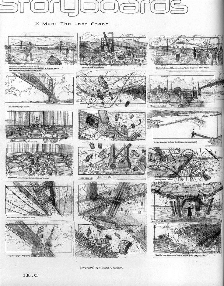X-Men 3 Story Boards