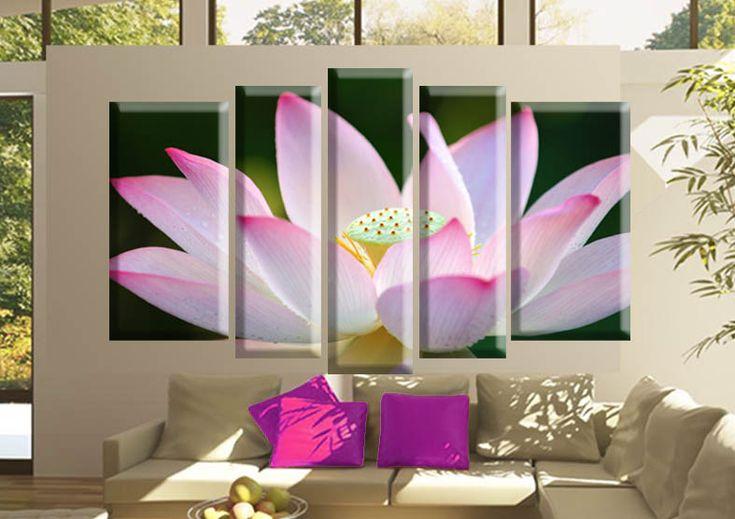 Tablouri lotus 2608 Dimensiuni: 2x 35x70 - 2x 25x80 - 1x 25x90 cm Total: 145x90 cm  http://etablou.ro/osc/product_info.php/cPath/54/products_id/665 Telefon : 0755-62.92.37