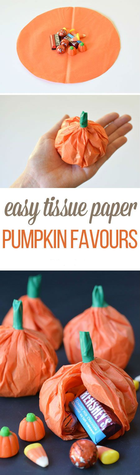 Easy Tissue Paper Pumpkin Favours | DIY Fun Tips