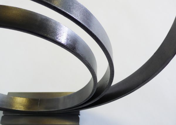 #Steel #sculpture by #sculptor Philip Melling titled: 'Loop IV (Commision Circles Steel sculptures)'. #PhilipMelling