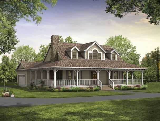 rustic house plans with wrap around porches Style House