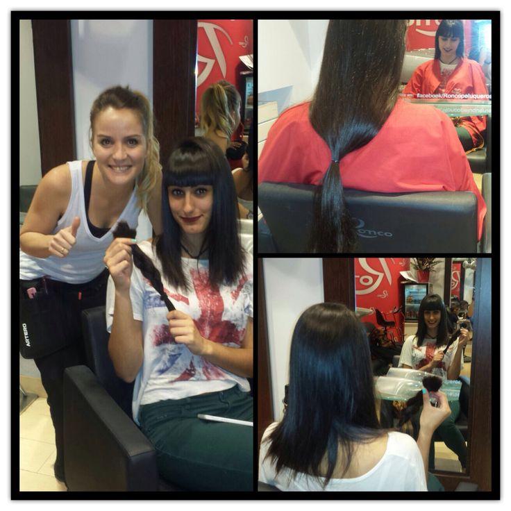 En el mes de concienciación sobre el cáncer de mama Cristina decide colaborar con la campaña de donacion de cabello así aportar su granito de arena.