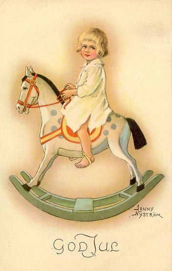 I had a rocking horse as a child it was dapple grey red leather seat.