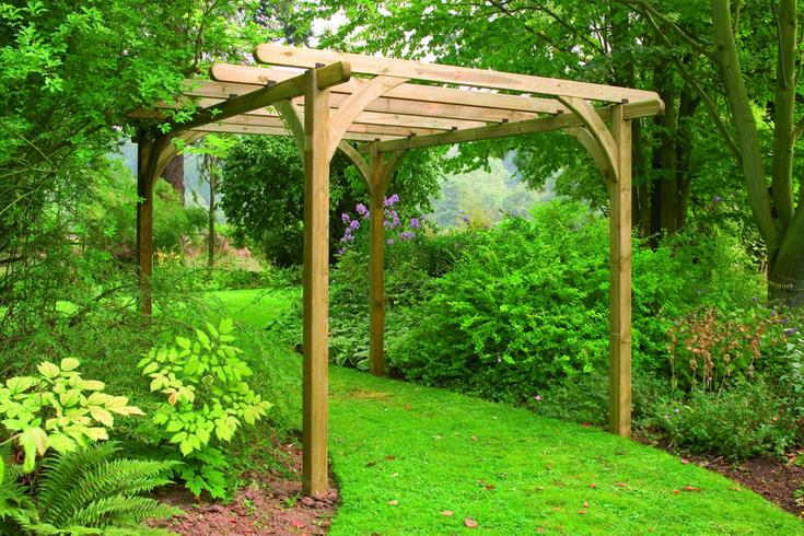 Buy single pergola arch forest