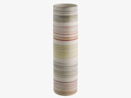 ELLON MULTI-COLOURED Ceramic Multi-coloured stripe cylinder vase - HabitatUK