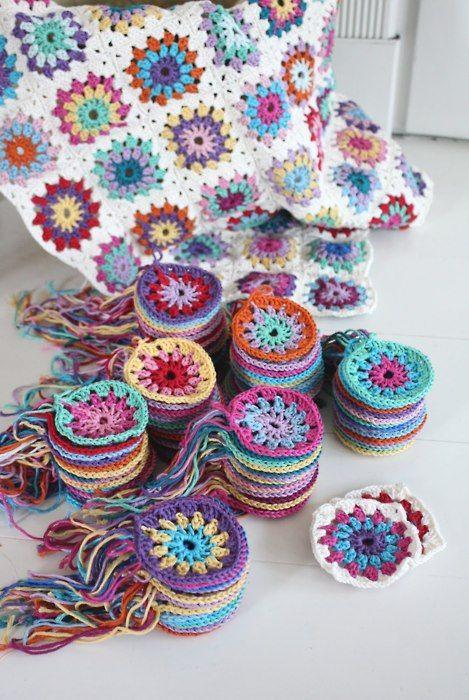 granny squares, crochet, Petitevanou