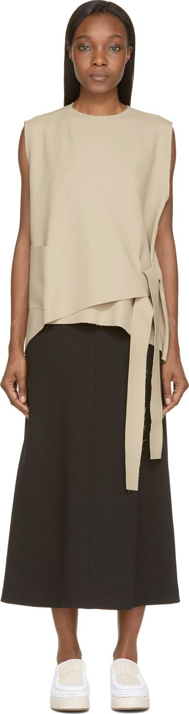 J.W.Anderson Beige Raw Knot Blouse