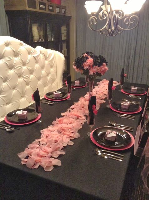 A Very Victoria Valentine's  Victoria's Secret themed Tablescape with step by step instructions.
