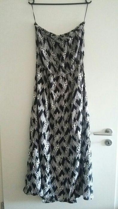 Maxi Sommerkleid schwarz weiß