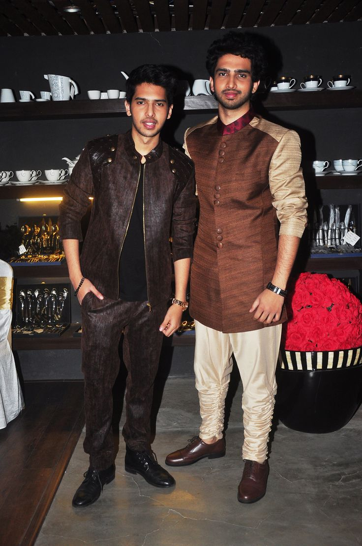 Madhurima Nigam rocks with INDIYSKYIKE menswear for ABHD... Armaan and Amal Malik sport a Madhurima creation...