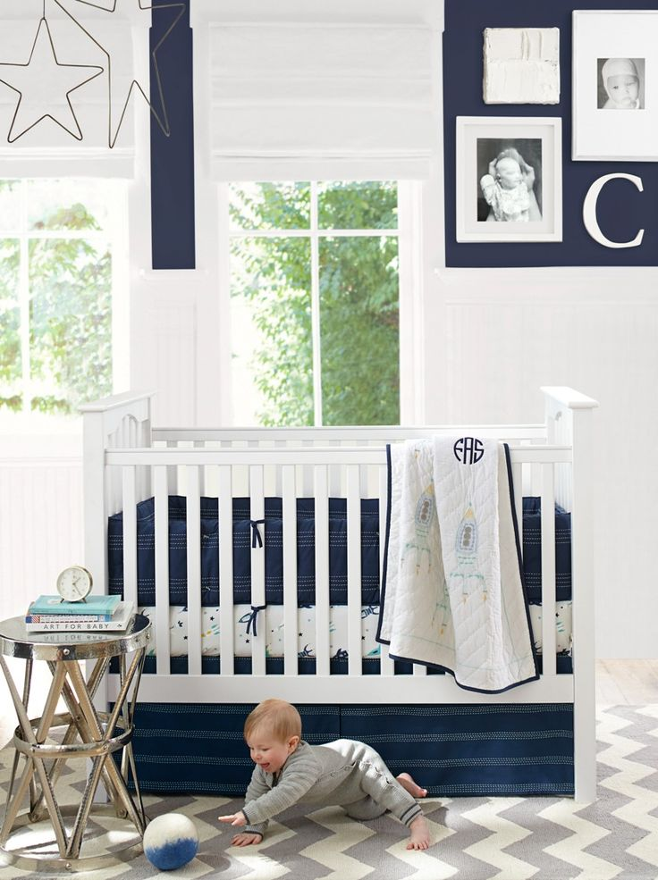 find this pin and more on boys nursery ideas kendall fixed gate crib from pottery barn kids - Pottery Barn Babies Room