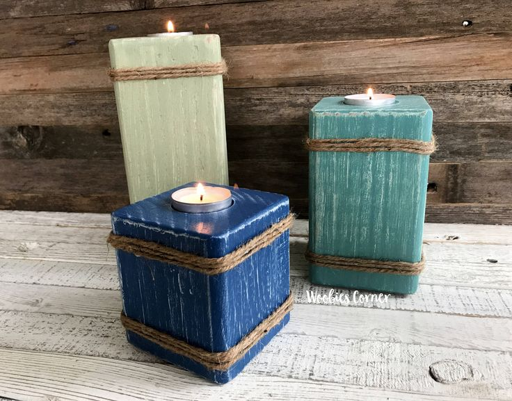 Nautical candle holder, Tea light holder, Rustic home decor, Ocean candle decor, Rustic candle holders, Tea light candle pillars