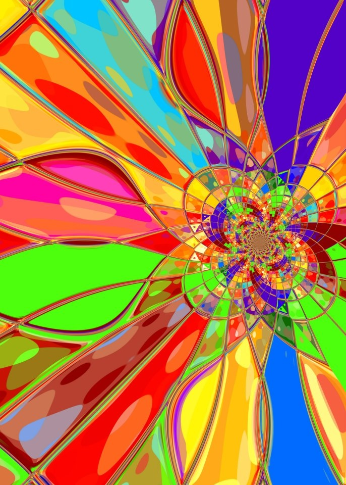 A throwback to the age of Flower Power and psychedelia