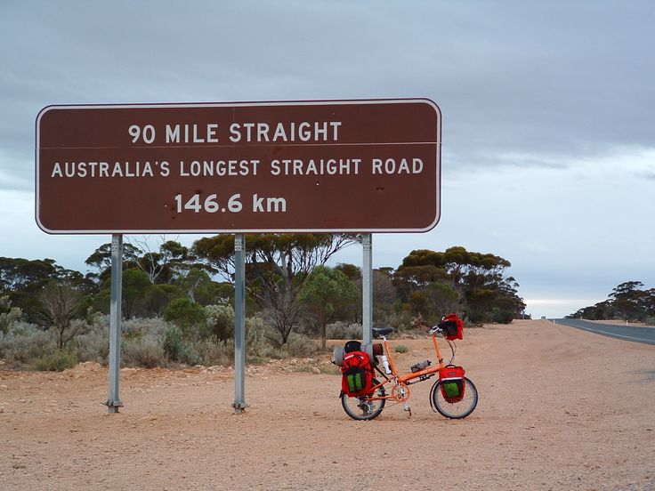 Bike Friday Pocket Llama. Balladonia, WA, Australia. Eyre Highway