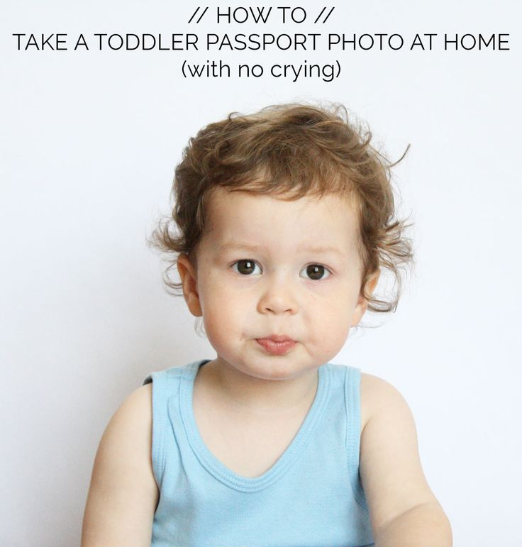 How To Take Passport Photos For A Toddler At Home