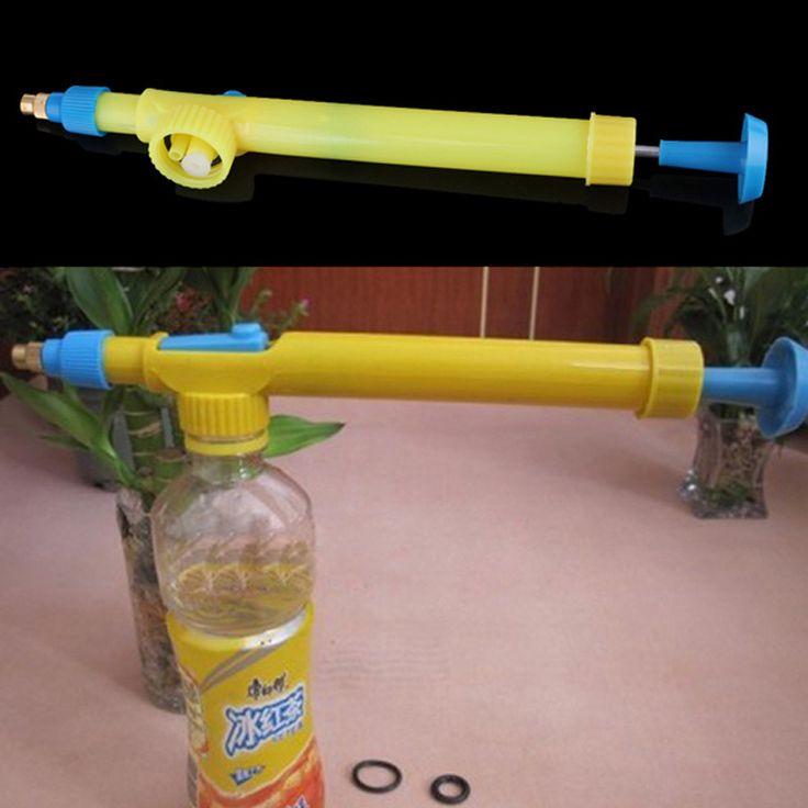 Mini Interfaz de Botellas de Jugo De Plástico Carro Pulverizador de Pistola de Agua de la Cabeza de Presión Para Bonsai Jardín de Agua de pulverización