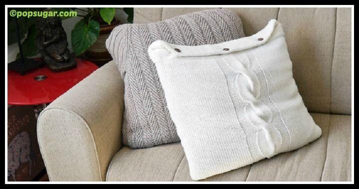 DIY Sweater Pillows Tutorial
