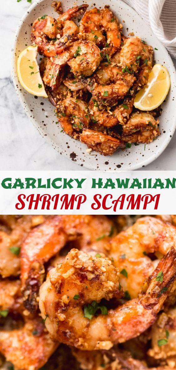 GARLICKY HAWAIIAN SHRIMP SCAMPI