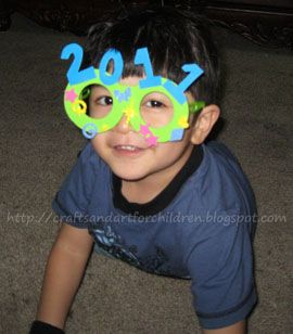 Happy New Year's (a little late!). Here are the fun crafts I made with my toddler: I made him his own pair of New Year's Glasses to wear. I had some foam glasses leftover from a craft kit (purchased at Wal-mart during the summer) and had my son decorate it with foam stickers. I cut . . . . .