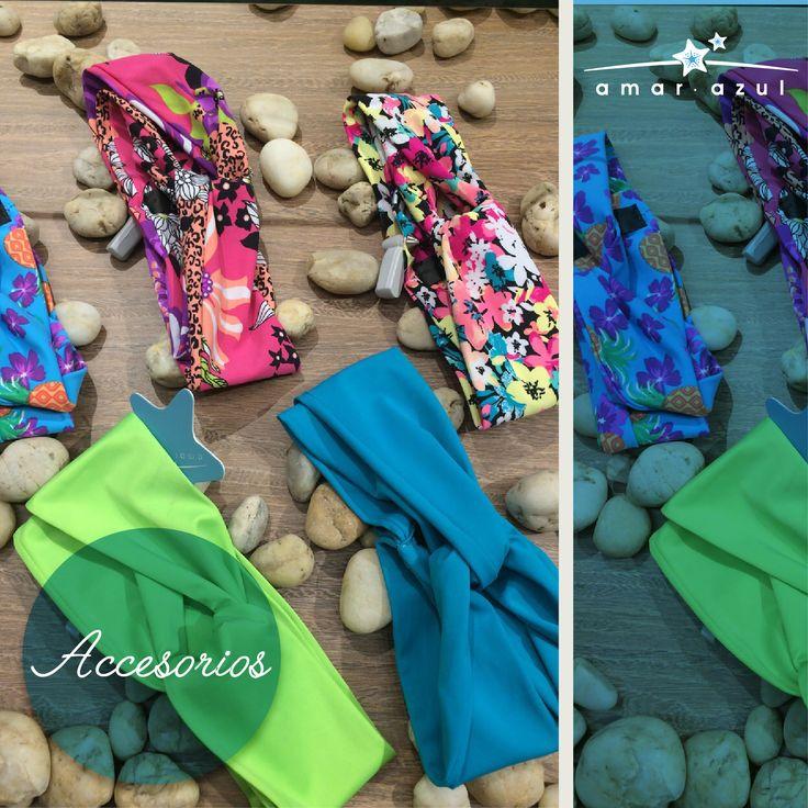 Turbantes en tela lycrada.  #Accesorios #beachwear #amarazulswimwear
