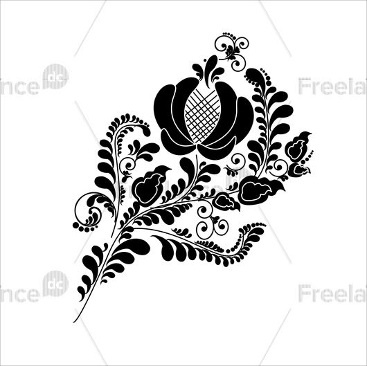 Floral ornament. Buy ready-made vector image.
