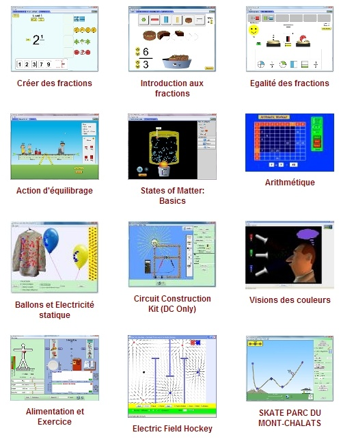 De nombreuses animations en flash pour les maths, le français, les sciences, de la maternelle au CM2.