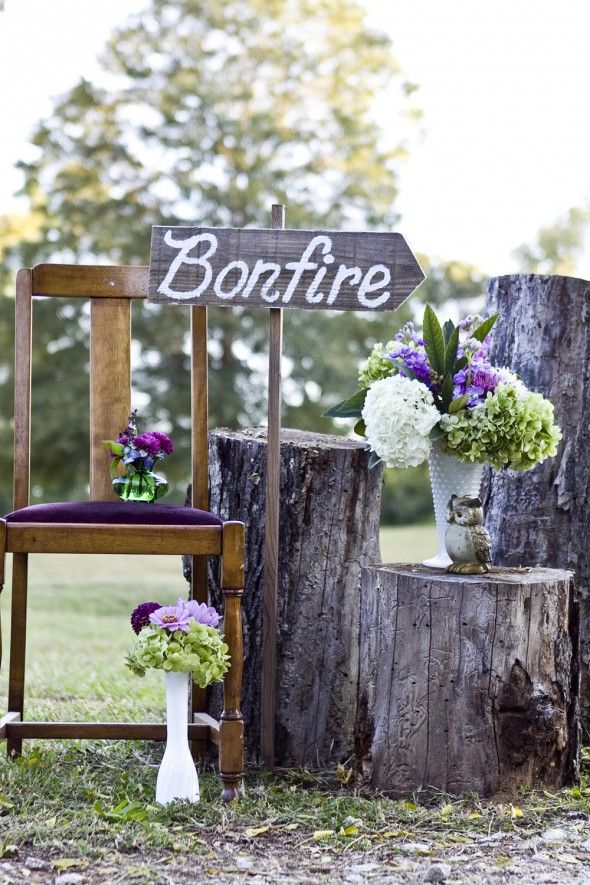 Have a bonfire at a country wedding