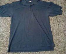 Men's Vintage Nike Polo Shirt. Size XL 100% Cotton. Blue.