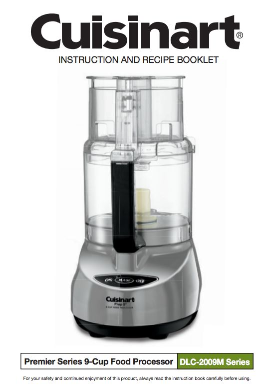 20 best food processor manuals images on pinterest food processor prep 9 9 cup food processor dlc 2009chbmy product manual forumfinder Choice Image