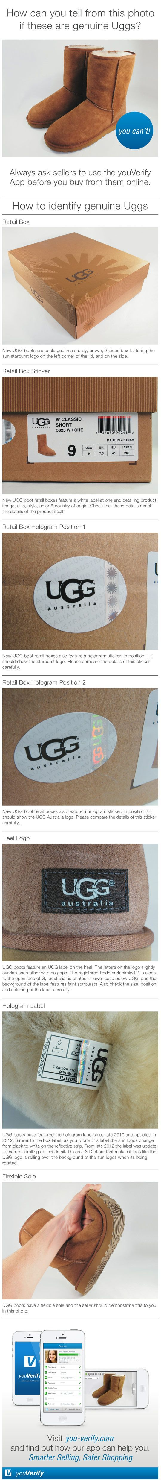 ugg authenticity label sun logo