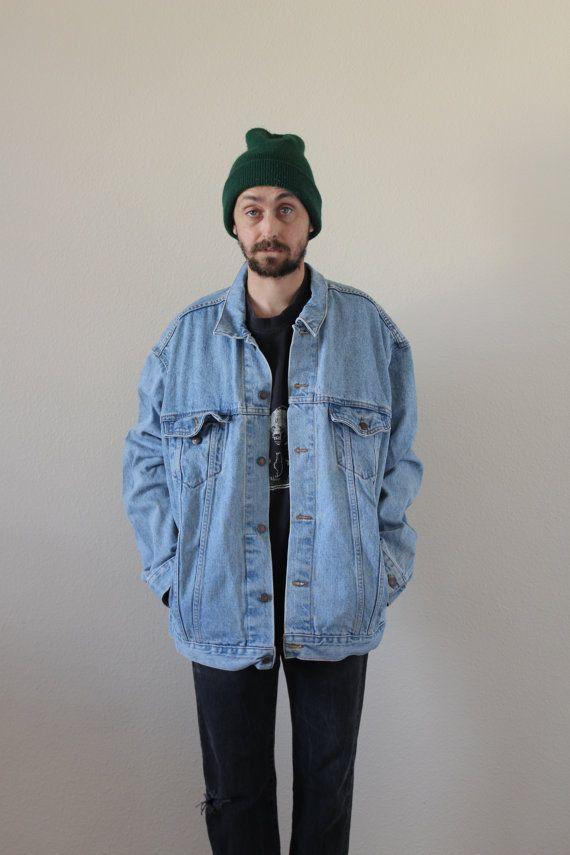 Levis Light Wash Oversized Denim Jacket Mens 2xl Jackets