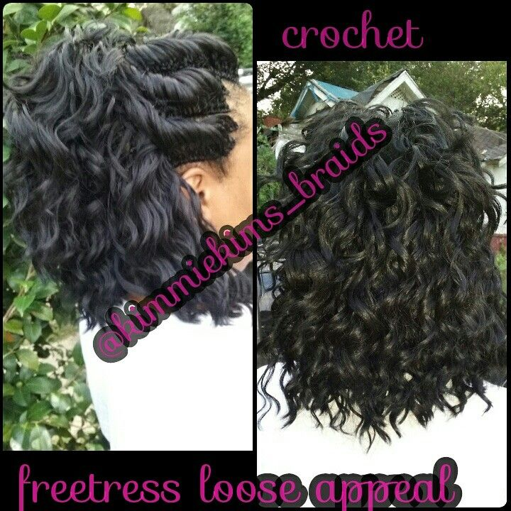 Crochet..freetress loose appeal.  Cut after install