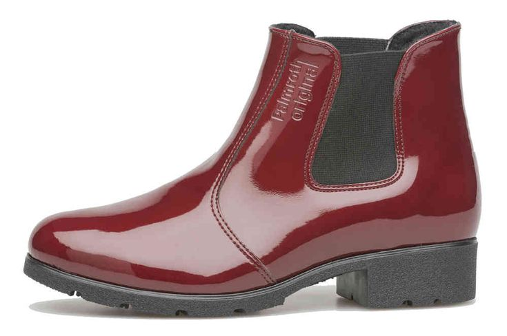Palmroth chelsea boot chili red patent
