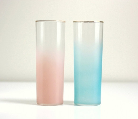 Ombre Fire King Tumblers