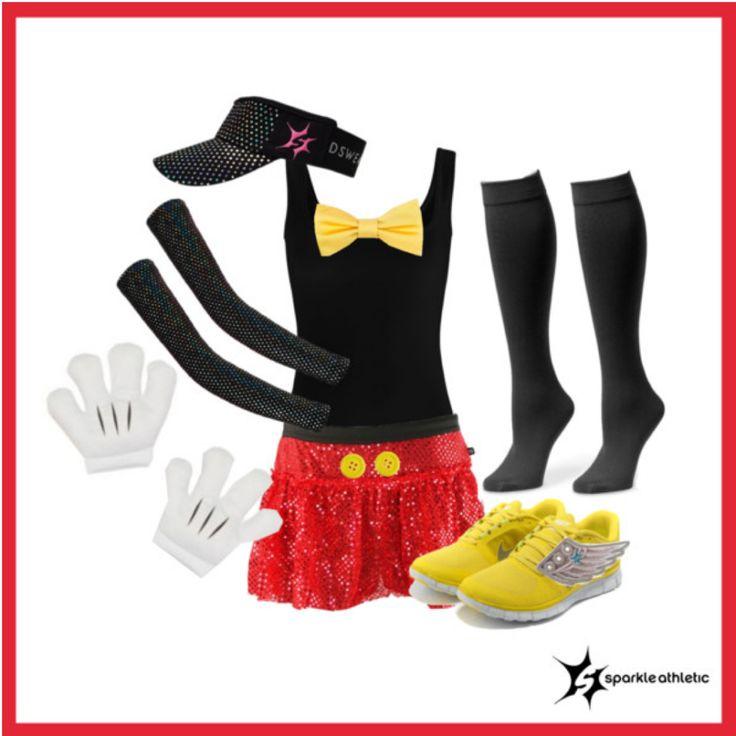 Mickey Mouse Running Costume | runDisney | Running | Race Costume | Disney | Sparkle Athletic | #TeamSparkle | Halloween | Athletic Costume
