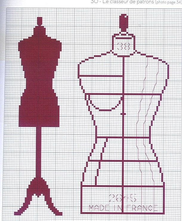 0 point de croix mannequin de couture cross stitch dress. Black Bedroom Furniture Sets. Home Design Ideas